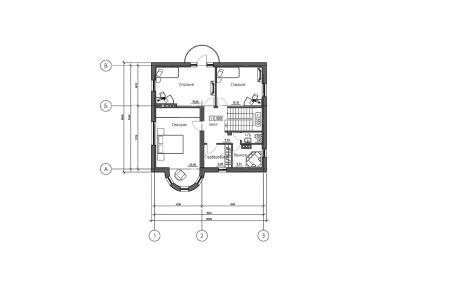 План второго этажа - Проект дома 8+