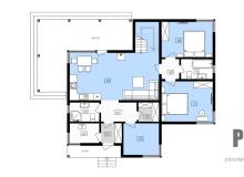 План 1 этажа - проект дома РосПроект 1