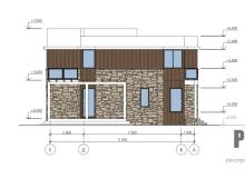 Фасад 1 - проект дома РосПроект 1