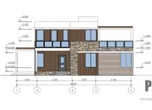 Фасад 4 - проект дома РосПроект 1