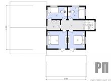 План 2 этажа - проект дома РосПроект 10