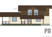 Фасад 1 - проект дома РосПроект 10