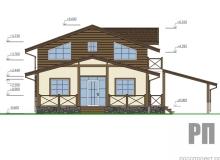 Фасад 2 - проект дома РосПроект 10