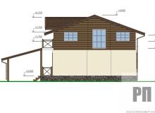 Фасад 3 - проект дома РосПроект 10
