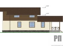 Фасад 4 - проект дома РосПроект 10