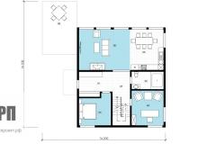 План 1 этажа - проект дома РосПроект 2