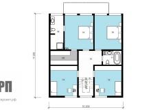 План 2 этажа - проект дома РосПроект 2