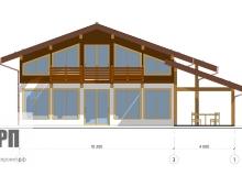 Фасад 1 - проект дома РосПроект 2