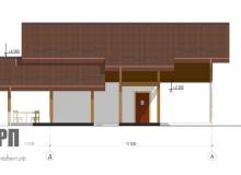 Фасад 3 - проект дома РосПроект 2