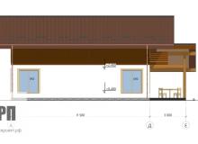 Фасад 4 - проект дома РосПроект 2