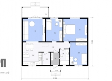 План 1 этажа - проект дома РосПроект 3