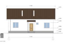 Фасад 1 - проект дома РосПроект 3