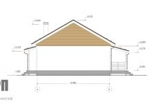 Фасад 2 - проект дома РосПроект 3