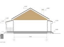 Фасад 3 - проект дома РосПроект 3