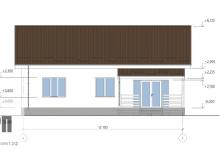 Фасад 4 - проект дома РосПроект 3