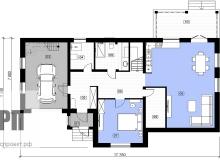 План 1 этажа - проект дома РосПроект 4
