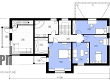 План 2 этажа - проект дома РосПроект 4