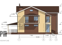 Фасад 1 - проект дома РосПроект 4