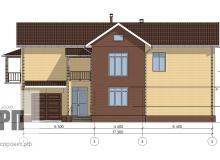 Фасад 2 - проект дома РосПроект 4