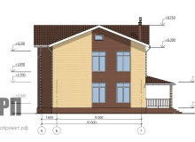 Фасад 3 - проект дома РосПроект 4