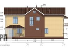 Фасад 4 - проект дома РосПроект 4