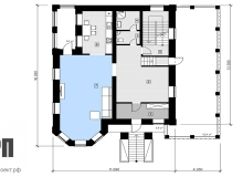 План 1 этажа - проект дома РосПроект 5