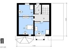 План 2 этажа - проект дома РосПроект 5