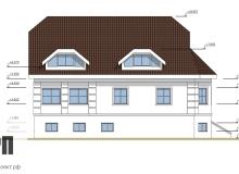 Фасад 1 - проект дома РосПроект 5