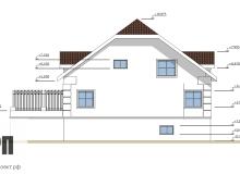 Фасад 2 - проект дома РосПроект 5
