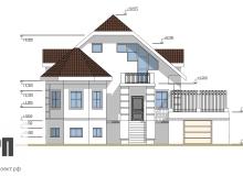 Фасад 3 - проект дома РосПроект 5