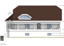 Фасад 4 - проект дома РосПроект 5
