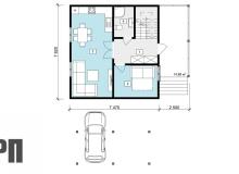 План 1 этажа - проект дома РосПроект 6