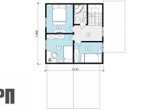 План 2 этажа - проект дома РосПроект 6