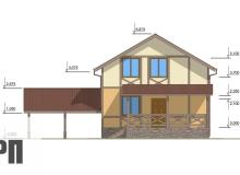 Фасад 1 - проект дома РосПроект 6
