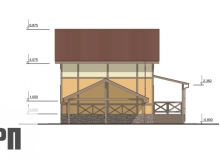 Фасад 2 - проект дома РосПроект 6