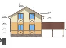 Фасад 3 - проект дома РосПроект 6