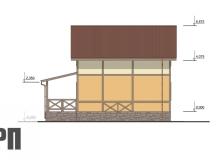 Фасад 4 - проект дома РосПроект 6