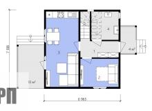 План 1 этажа - проект дома РосПроект 7