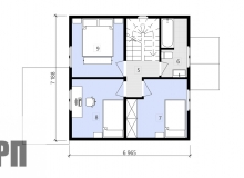 План 2 этажа - проект дома РосПроект 7