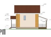 Фасад 1 - проект дома РосПроект 7