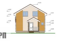 Фасад 2 - проект дома РосПроект 7