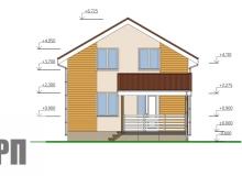 Фасад 3 - проект дома РосПроект 7