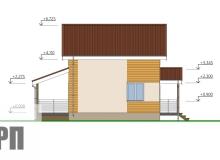 Фасад 4 - проект дома РосПроект 7