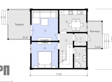 План 1 этажа - проект дома РосПроект 8