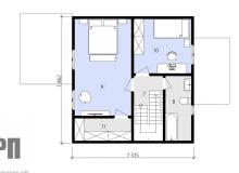 План 2 этажа - проект дома РосПроект 8