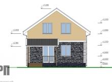 Фасад 1 - проект дома РосПроект 8