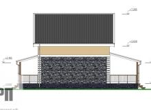 Фасад 2 - проект дома РосПроект 8