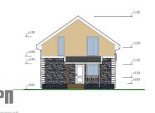 Фасад 3 - проект дома РосПроект 8