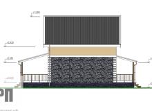 Фасад 4 - проект дома РосПроект 8