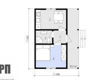 План 1 этажа - проект дома РосПроект 9